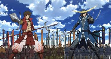 "Manga ""Sengoku Basara"" Bann_Sengoku-Basara-Sanada-Yukimura-Date-Masamune-OP"